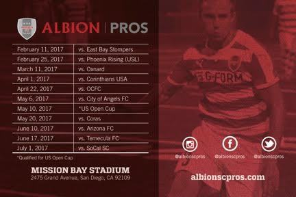 Albion PROS Vs. SoCal FC poster