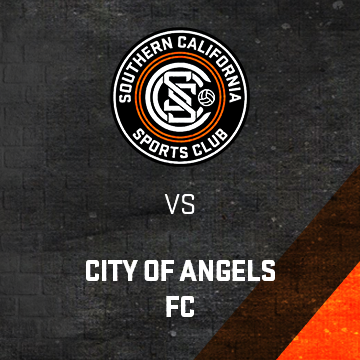 SoCal Vs. City of Angels FC poster