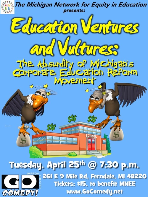 Education Ventures & Vultures poster