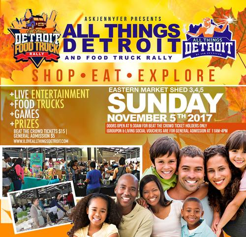 All Things Detroit & Food Truck Rally at Eastern Market poster