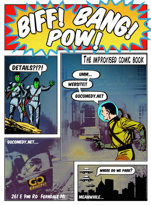 Biff! Bang! Pow!: An Improvised Comic Book poster