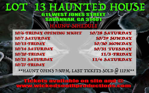 Lot 13 Haunted House poster