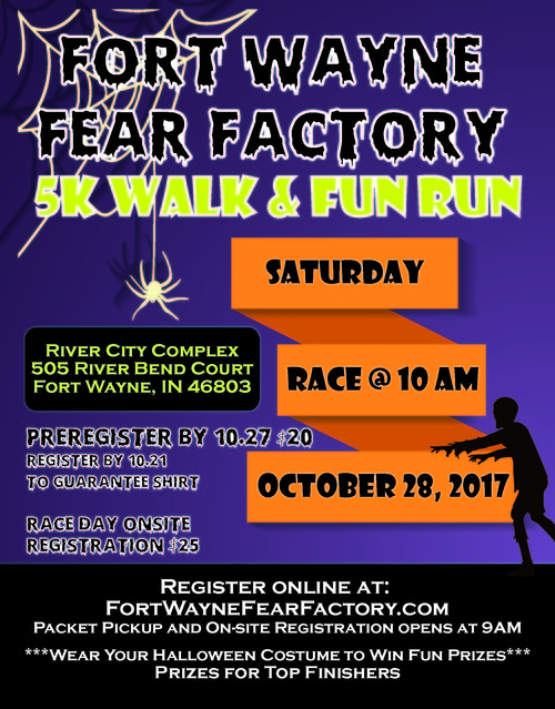 Fort Wayne Fear Factory 5K poster