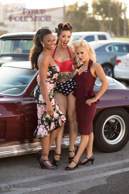 March 31st, Pinup Pole Show and classic car cruise-in, North Hollywood image