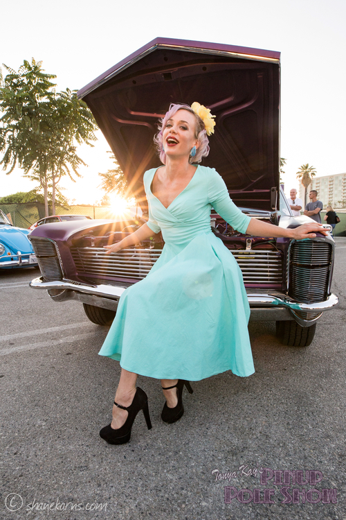 June 16th, Pinup Pole Show and classic car cruise-in, North Hollywood image