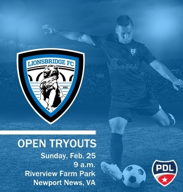 Lionsbridge FC Open Tryout poster