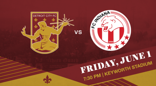 Detroit City FC vs FC Indiana poster