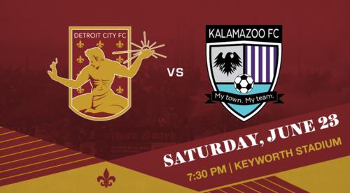 Detroit City FC vs Kalamazoo FC poster