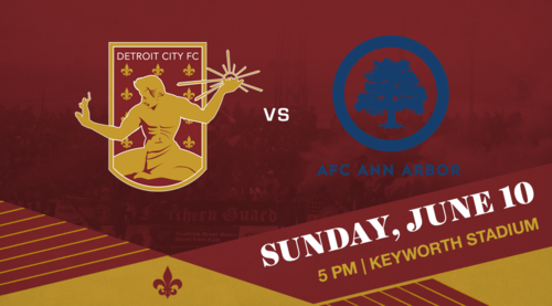 Detroit City FC vs AFC Ann Arbor poster
