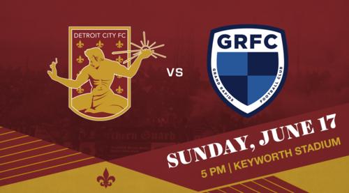 Detroit City FC vs Grand Rapids FC poster