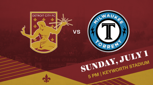 Detroit City FC vs Milwaukee Torrent poster