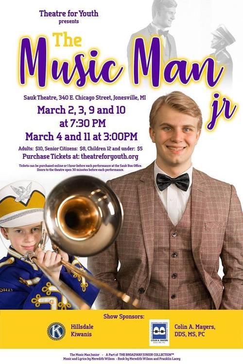 Theatre for Youth presents.....The Music Man Jr. poster