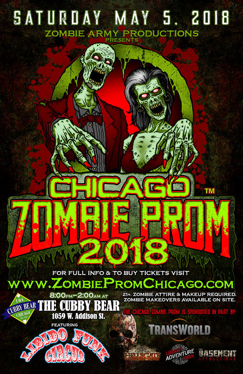 Zombie Prom Chicago 2018 poster