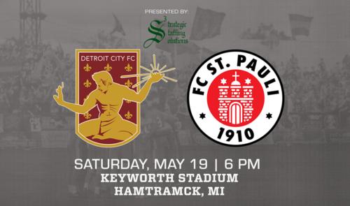 Detroit City FC vs FC St. Pauli poster