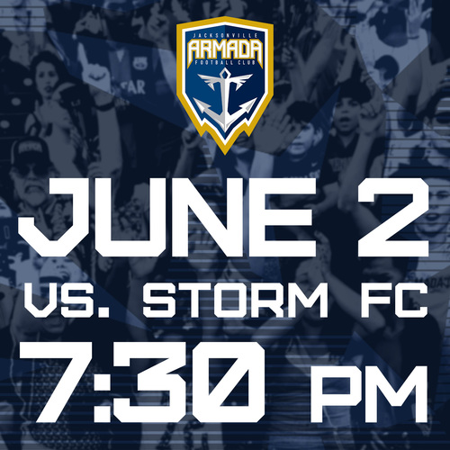 Jacksonville Armada vs Storm FC June 2nd poster