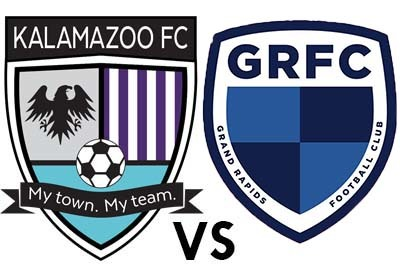 Kalamazoo FC vs. Grand Rapids FC poster