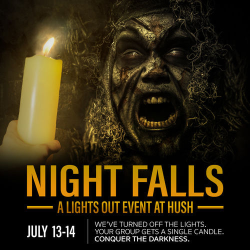 Night Falls - A Lights OUT Event poster