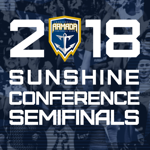 Jacksonville Armada vs Miami United FC NPSL Sunshine Conference Semifinals July 11th poster
