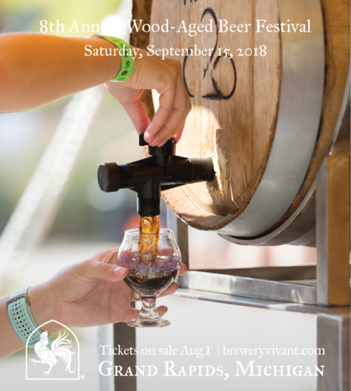 Brewery Vivant's Wood Aged Beer Fest poster