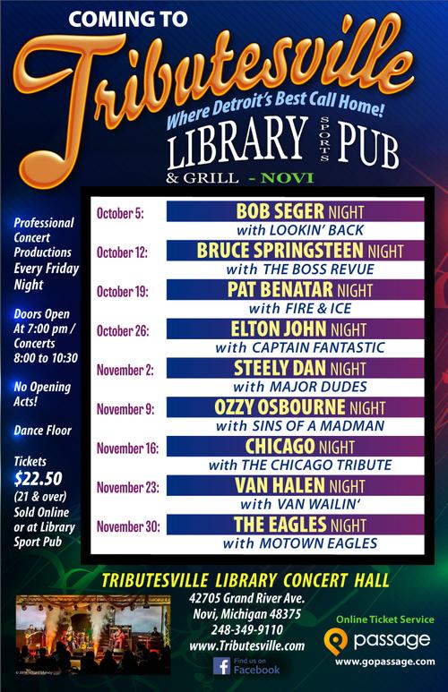 Bob Seger Tribute LOOKIN' BACK poster