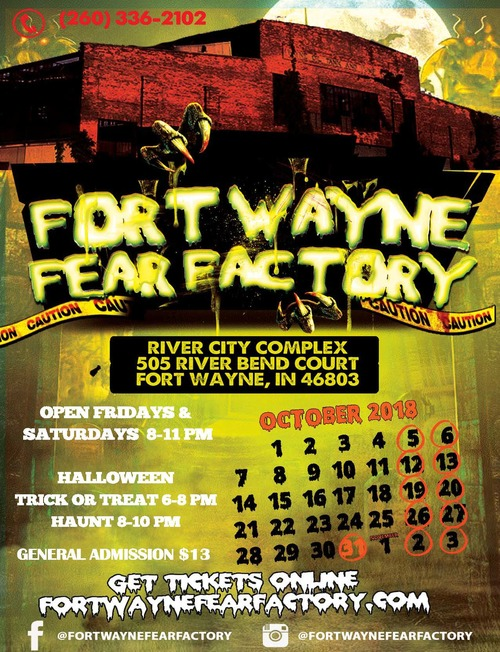 2018 Fort Wayne Fear Factory poster