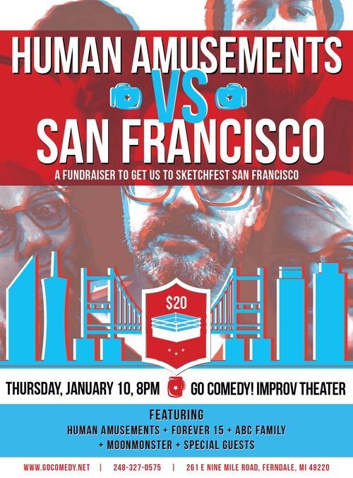 Human Amusements vs. San Francisco poster
