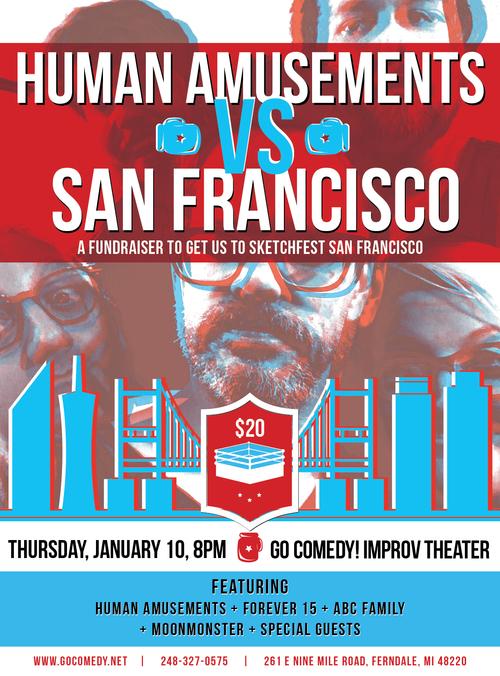 Human Amusements vs. San Francisco poster