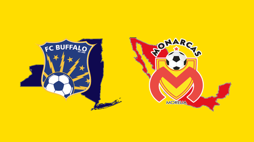 International friendly: FC Buffalo versus Monarcas Morelia (Mexico) poster