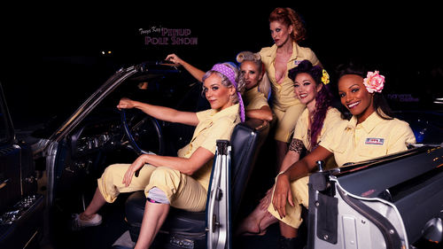 June 1st, Pinup Pole Show and classic car cruise-in, North Hollywood image