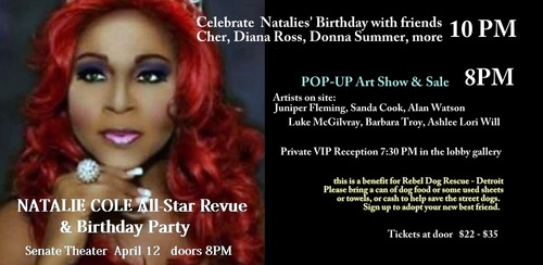 Natalie Cole's All-Star Revue and Birthday Party poster