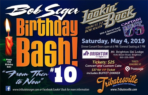 Bob Seger Birthday Bash 10 poster