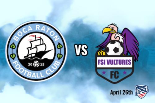 Boca Raton FC vs Vultures Purple poster