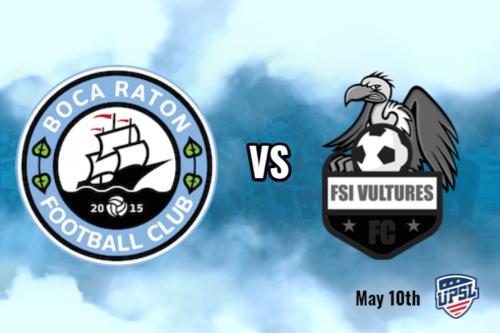 Boca Raton FC vs Vultures Black poster
