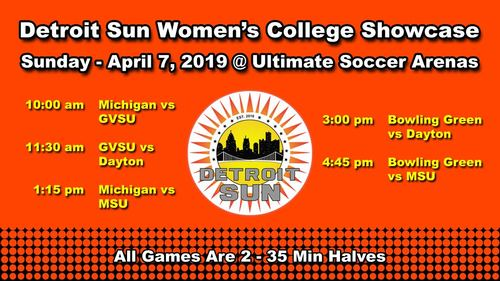 Detroit Sun College Showcase poster
