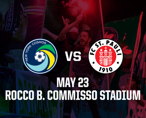 INTERNATIONAL FRIENDLY — NY Cosmos vs FC St. Pauli poster