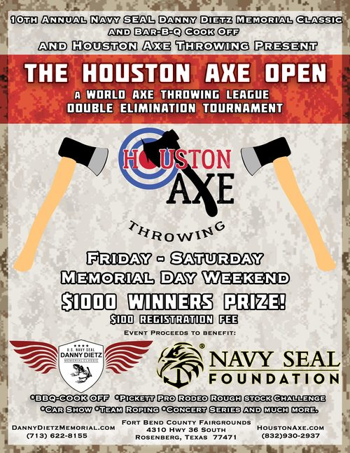 Houston Axe Open poster