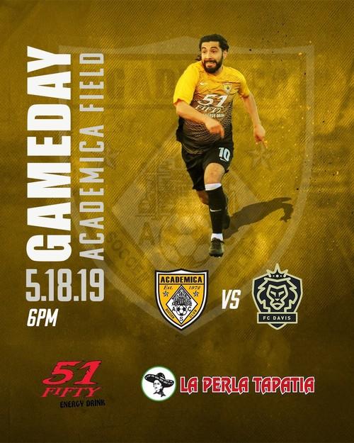 Academica SC vs. FC Davis poster