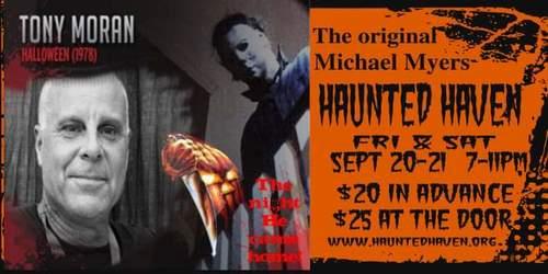 Haunted Haven presents Tony Moran The original Michael Myers image