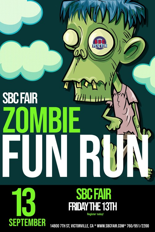 San Bernardino County Fairgrounds Zombie Run poster