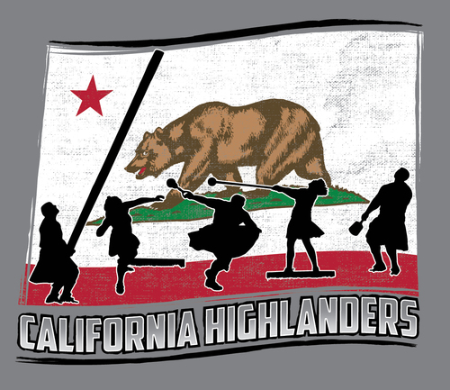 2019 Central Valley Highland Games poster