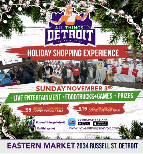 All Things Detroit Holiday Shopping Experience & Food Truck Rally (11/3) image