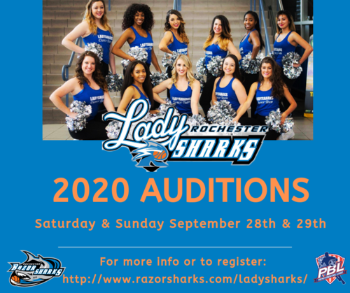 Rochester LadySharks 2020 Auditions  poster