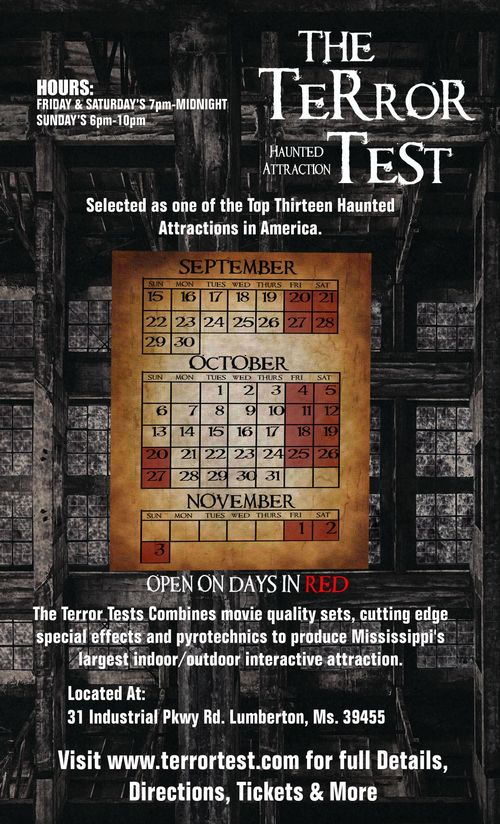 The Terror Test poster