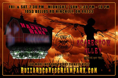 The Buzzard Cove Screampark poster