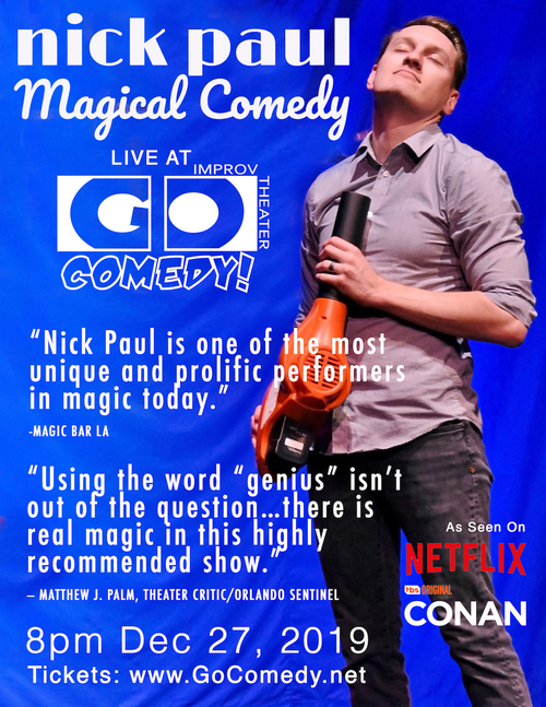 Nick Paul Magical Comedy poster