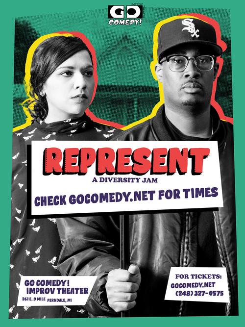 REPRESENT! A Diversity Jam poster