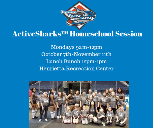 Monday ActiveSharks™ Homeschool Program  poster