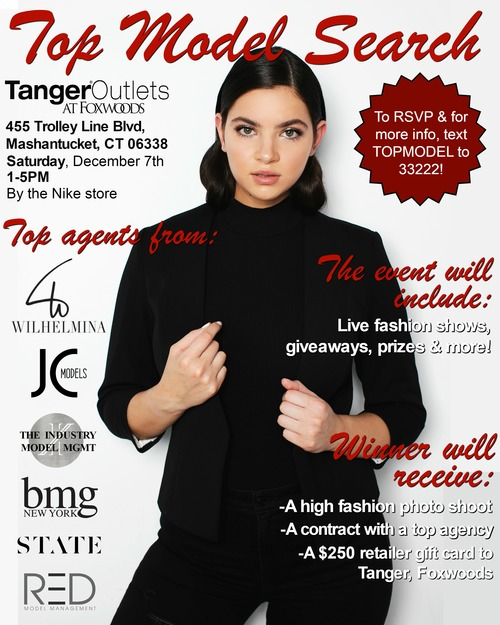 Tanger, Foxwoods Top Model Search poster
