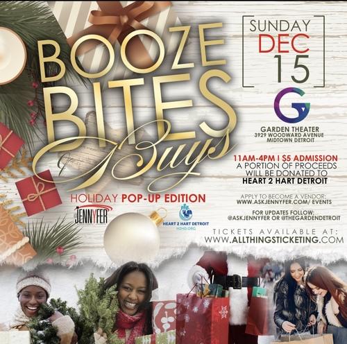 Booze, Bites & Buys poster