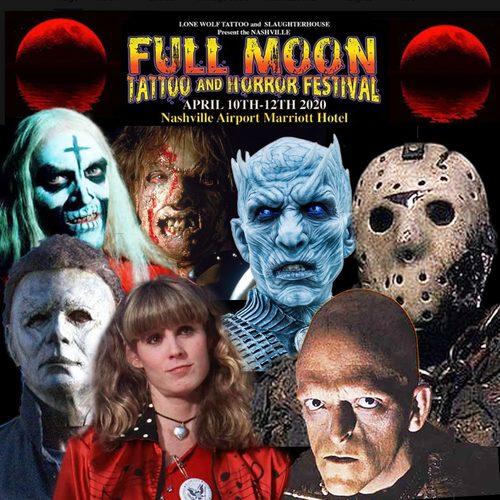 Nashville Full Moon Tattoo and Horror Festival poster